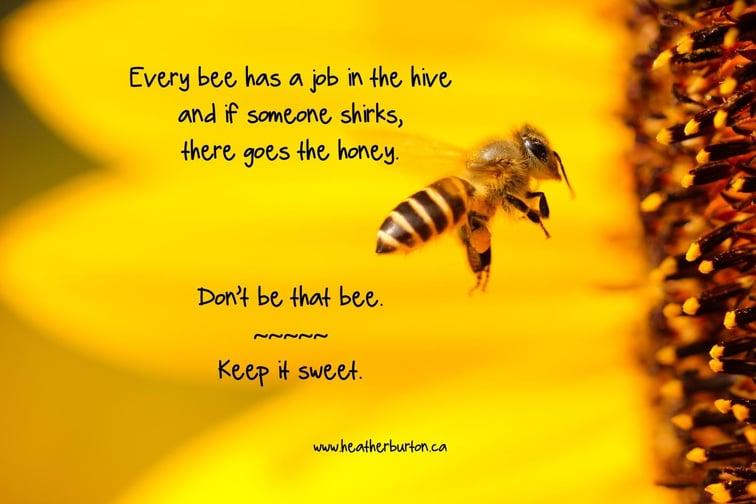Bienen haben ihren Job